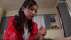 Cum in mouth for cock sucking Saki Fujii