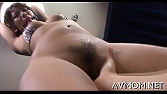 Hairy tight vagina mom gets fingered
