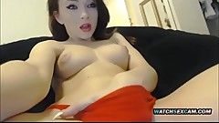 Petite Asian Step Sister Lolita Fucks Pussy with Dildo WatchSexCam.com