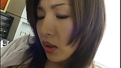 Mai Hanano pleasures her crack with sex toys till gets orgasms