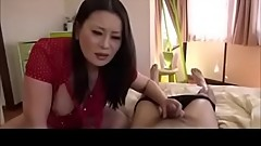 Japanese Mom And Young Son