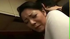 Japanese Mother Son Kitchen Sex