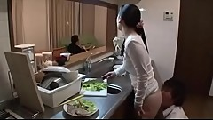 Fuck Japanese stepmom in front of Dad