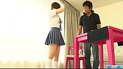 Miku Airi is a hot schoolgirl in need for a mature cock - More at Javhd.net