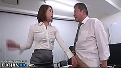Japanese teacher satisfies old man - More at Elitejavhd.com