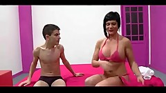 Milf Short Hair And Young Boy