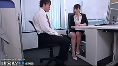 Japanese secretary office foot fetish - More at Elitejavhd.com