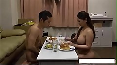 Hardest dinner ever got by a big boob japenese wife - AmJerking.com