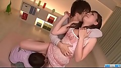 Perfect threesome along hot milf, Mami Yuuki - More at Javhd.net